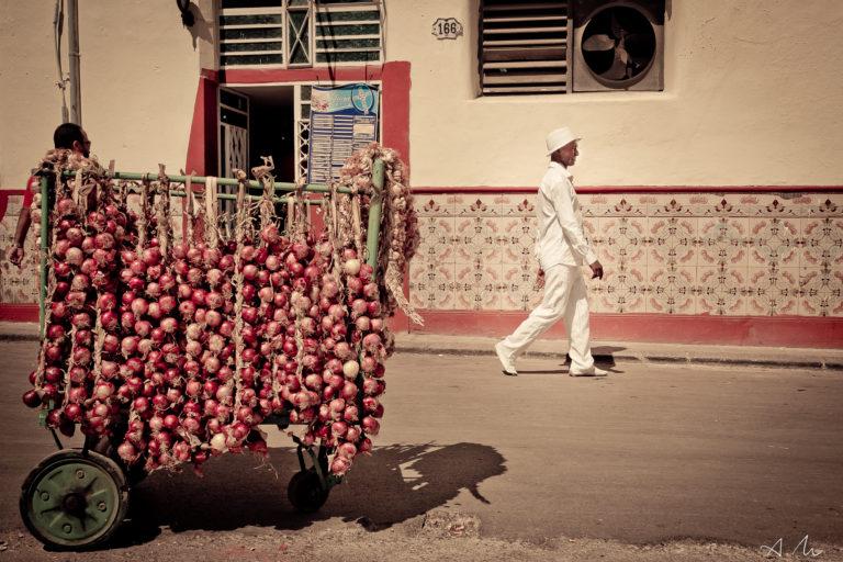 membre santeria religion cuba habille blanc rue havane