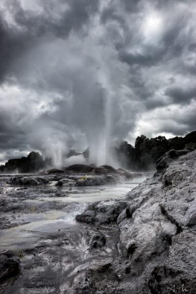 geyser rotorua nouvelle zélande