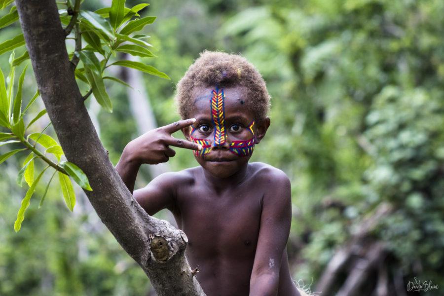 enfant observe arbre tanne vanuatu
